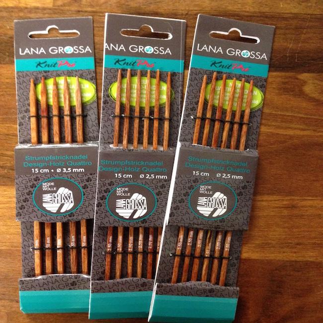 Knit Pro - Firkantede strømpepinde 15 cm