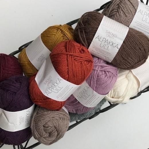Alpakka/Uld Udgåede farver kun 39 kr