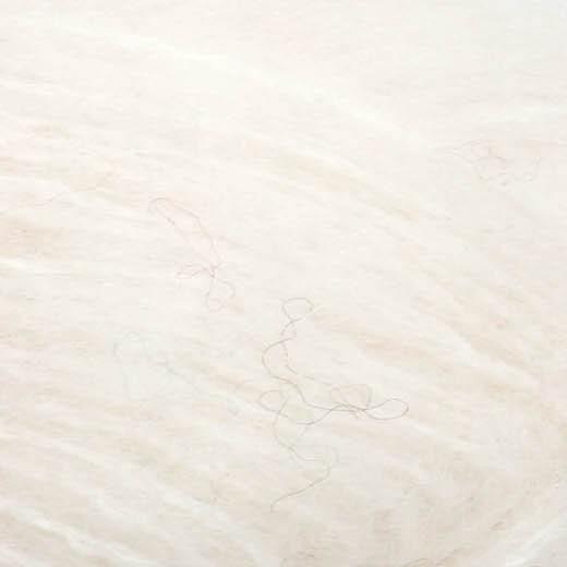 Børstet Alpakka-Hvid 1001-31