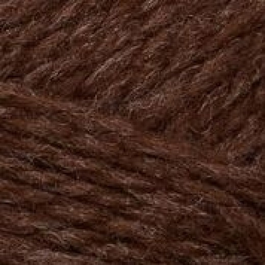 Fritidsgarn mørk brun