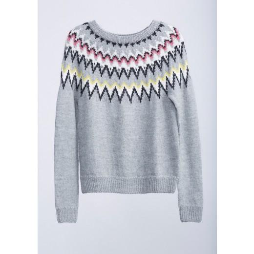 Sweater med rundt bærestykke-31