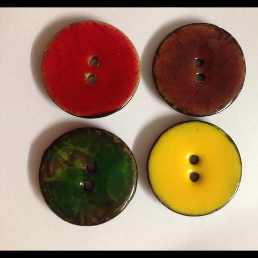 Glaserede kokosknapper 30 mm-31