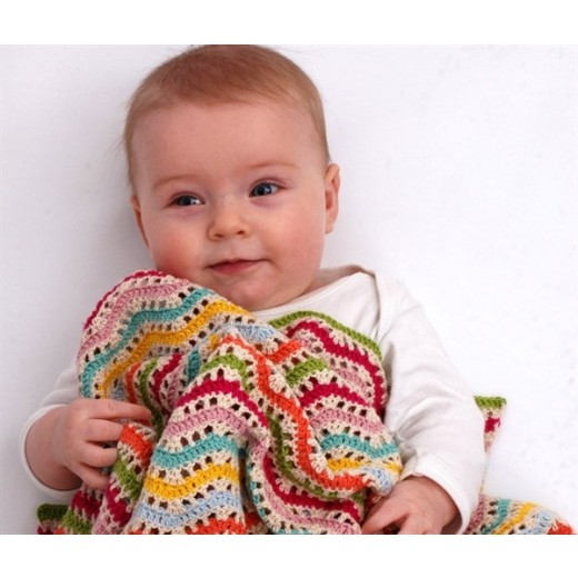 Hæklet babytæppe zigzag 006