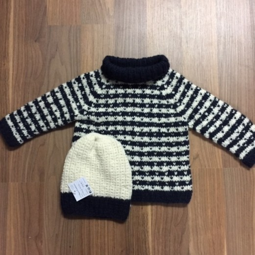 Lille sweater med lys