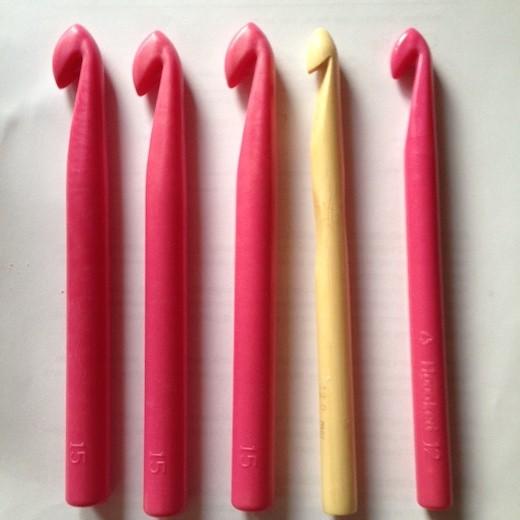 Kæmpe hæklenåle til Zpagetti eller Ribbon