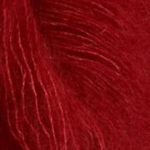 Silk mohair Sandnes rød