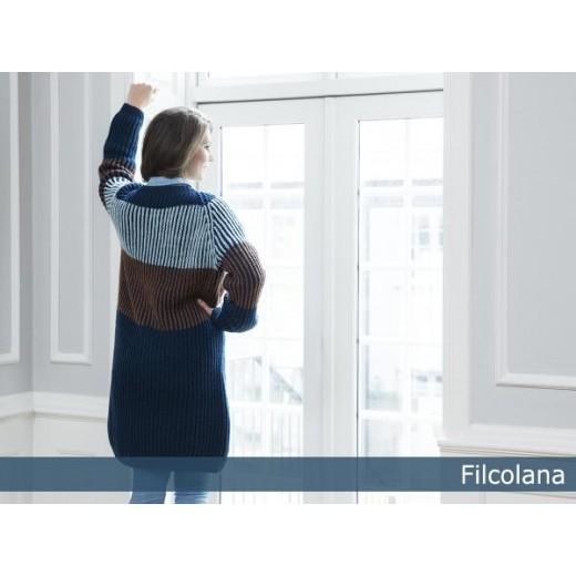 Alcea en lang, patentstrikket cardigan-33
