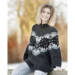 Poncho Sweater med stjerner Håndværksgarn-20