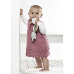 Babykjole med hulmønster 4313