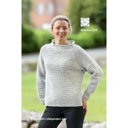 Struktur sweater i merino fra Hjelholt uldspinderi
