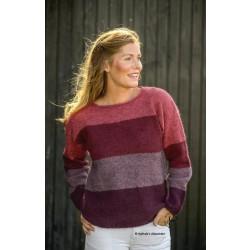 Rødstribet Sweater
