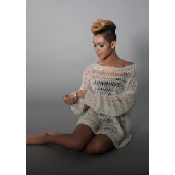 Lang hulsweater