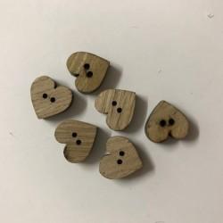 Hjerte træknapper 1,8 mm