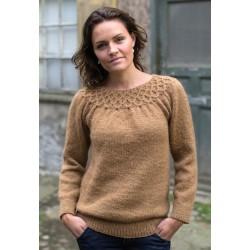 Damesweater med smock-20