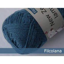 New Zealandsk Lammeuld - Filcolana-228 Smoke Blue