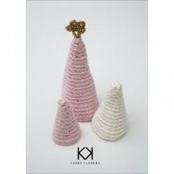Hæklede juletræer - Karen Klarbæk