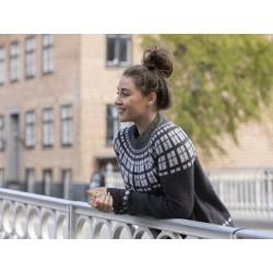 Borgen - en fed sweater med rundt bærestykke