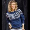 Damesweater med stjernebort - Håndværksgarn