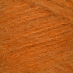Børstet Alpakka - 96% Alpakka 4% Nylon-Orange 2337
