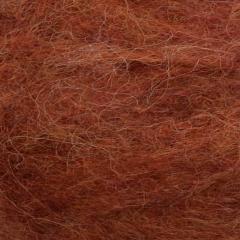 Børstet Alpakka - 96% Alpakka 4% Nylon-Rust 3355