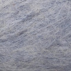Børstet Alpakka-Lysblå Meleret 6221