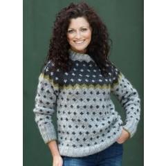Korssweater i Hjelholt Håndværksgarn