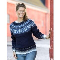 Sweater med Stjernebort - Pelsuld