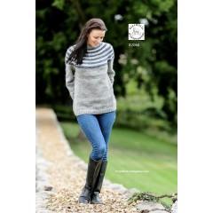 Sweater med rundt bærestykke - Hjelholt
