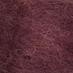 Børstet Alpakka - 96% Alpakka 4% Nylon-Blomme 4554