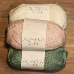 Alpakka Silke - 70% babyalpakka 30% Mulberry Silke