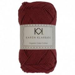 Karen Klarebæk Bomuld 8/4-Mørk Brick Rød 35