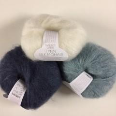 Tynd Silk Mohair - 57% mohair, 15% uld og 28% Silke