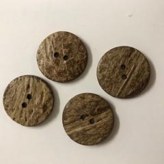 Mørke kokosknapper 25 mm